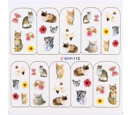Waterdecal Animal BOP112