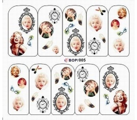 Waterdecal Vintage BOP005